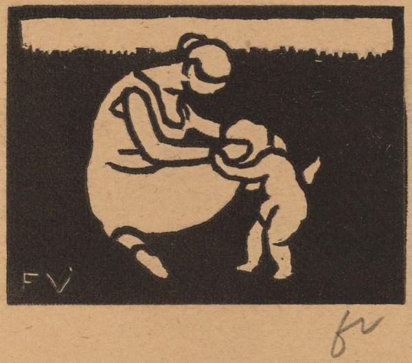 Lix Vallotton Bather And Child La Baigneuse L
