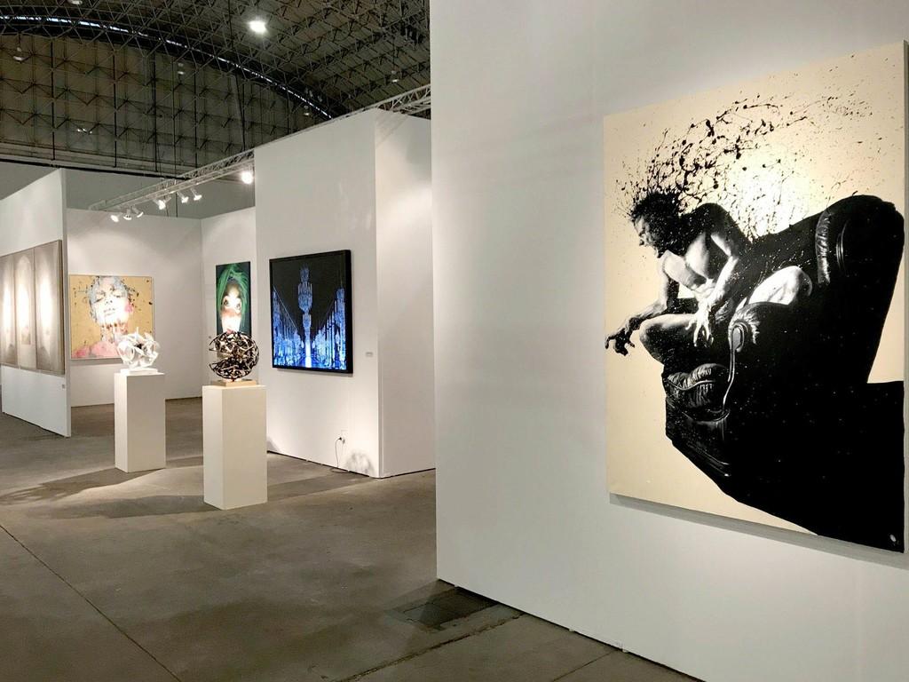 sofa art gallery center table designs ransom at chicago 2017 artsy