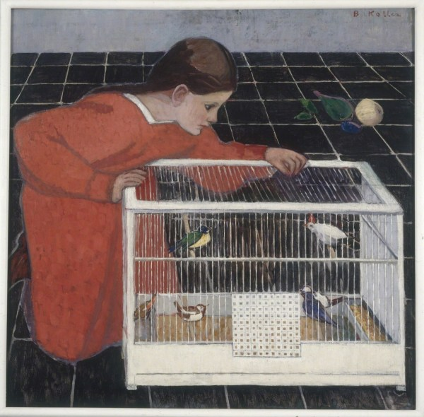 Broncia Koller Silvia With Bird Cage 1907-08