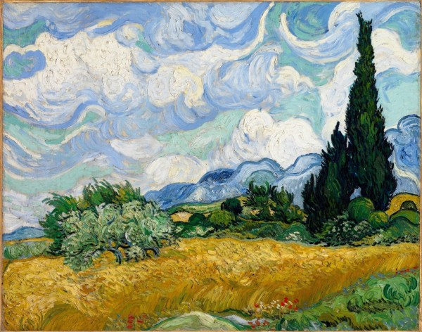 Vincent Van Gogh Wheatfield With Cypresses 1889 Artsy
