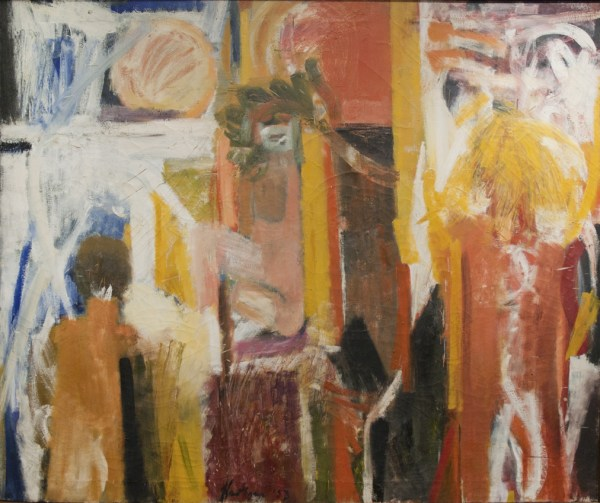Abstract Female Expressionism Paintings