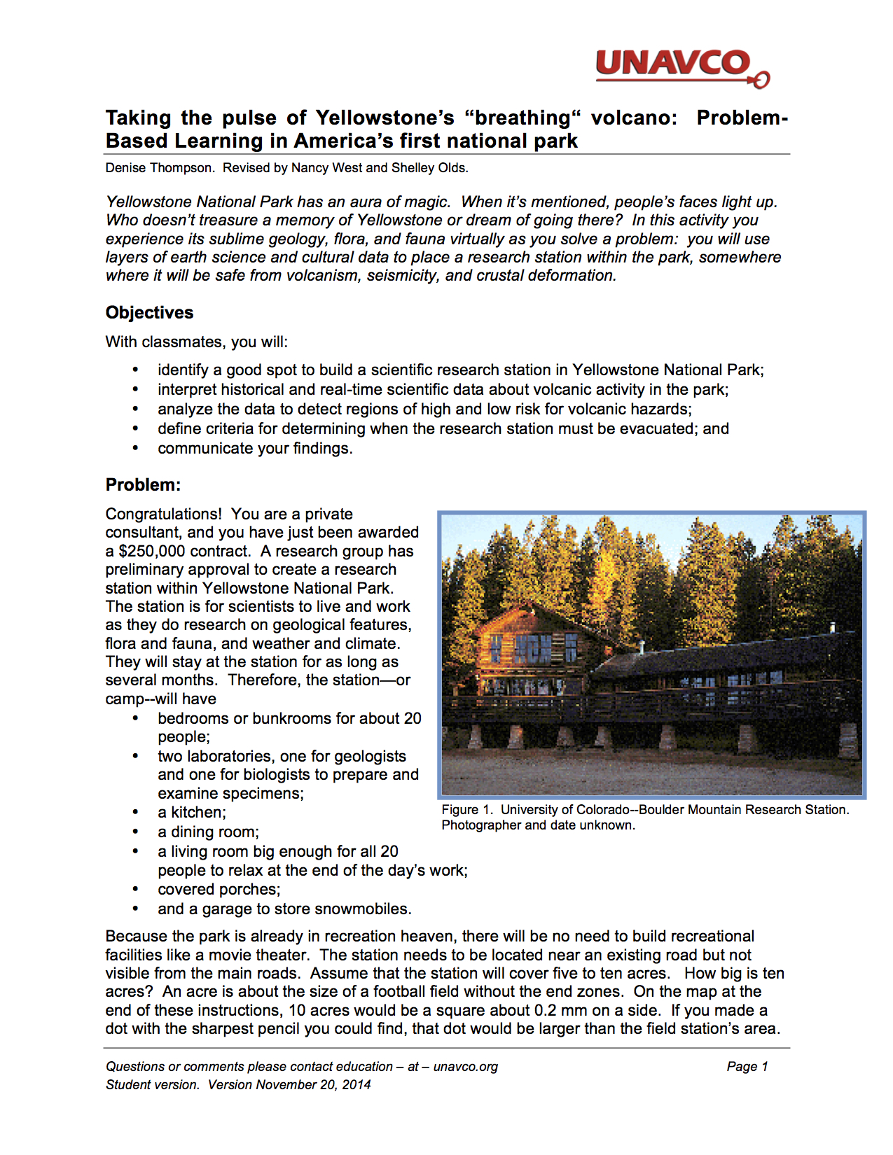 Unavco Yellowstone Activity Image