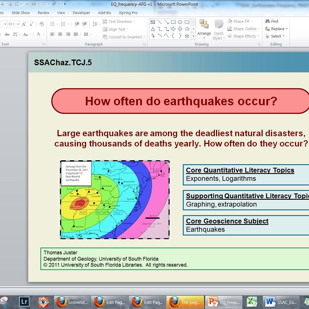 How often do earthquakes occur?