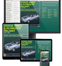 dodge aries plymouth reliant 81 89 haynes online manual haynes 1989 dodge aries engine diagram wiring schematic [ 1000 x 1292 Pixel ]