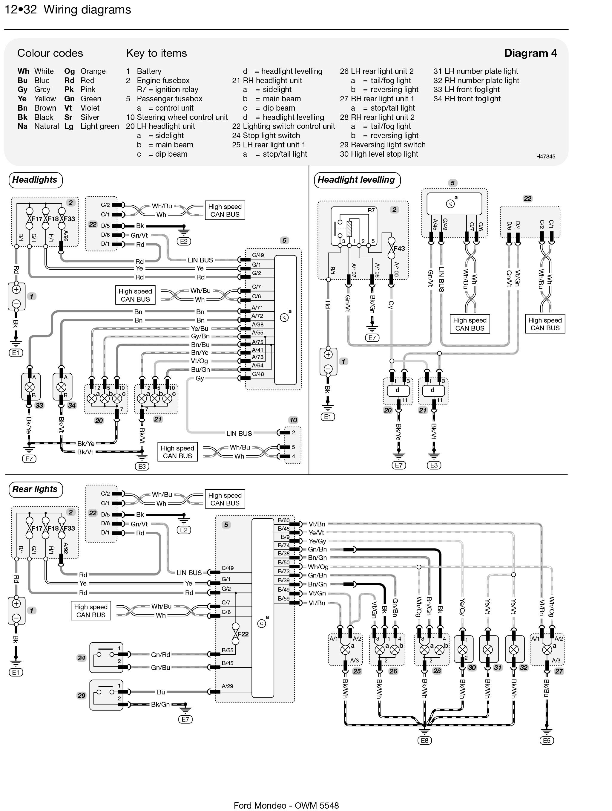 mondeo wiring diagram jzz30 1jz gte ford petrol and diesel apr 07 12 haynes repair