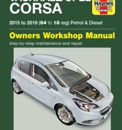 printed manual enlarge vauxhall opel corsa petrol diesel  [ 1628 x 2150 Pixel ]