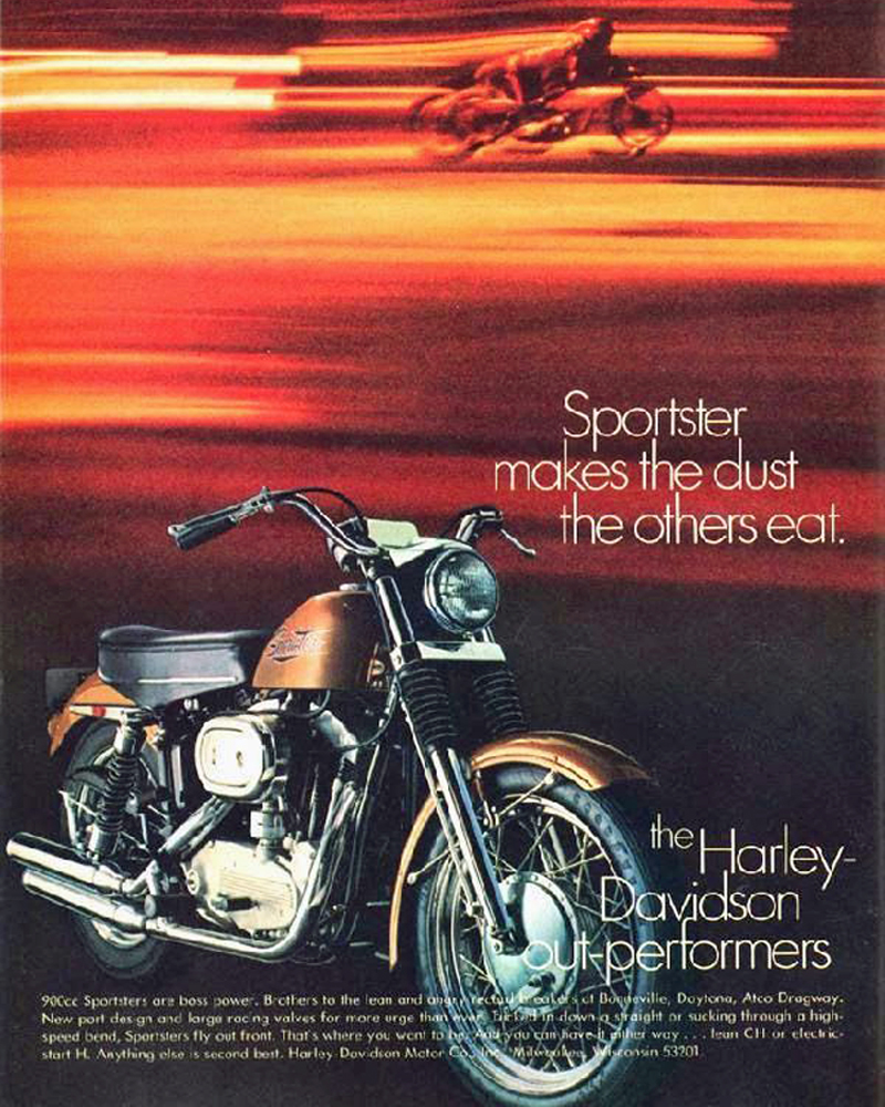 medium resolution of 1971 harley davidson sportster magazine ad