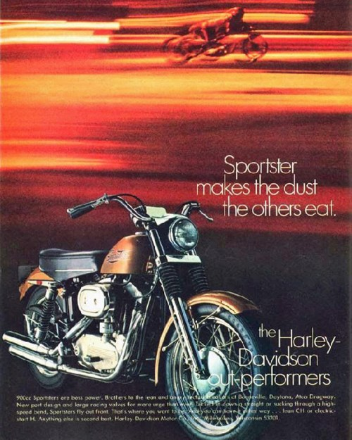 small resolution of 1971 harley davidson sportster magazine ad