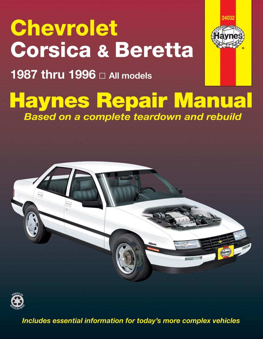 medium resolution of haynes manual 1995 chevy corsica on chevy beretta engine diagram