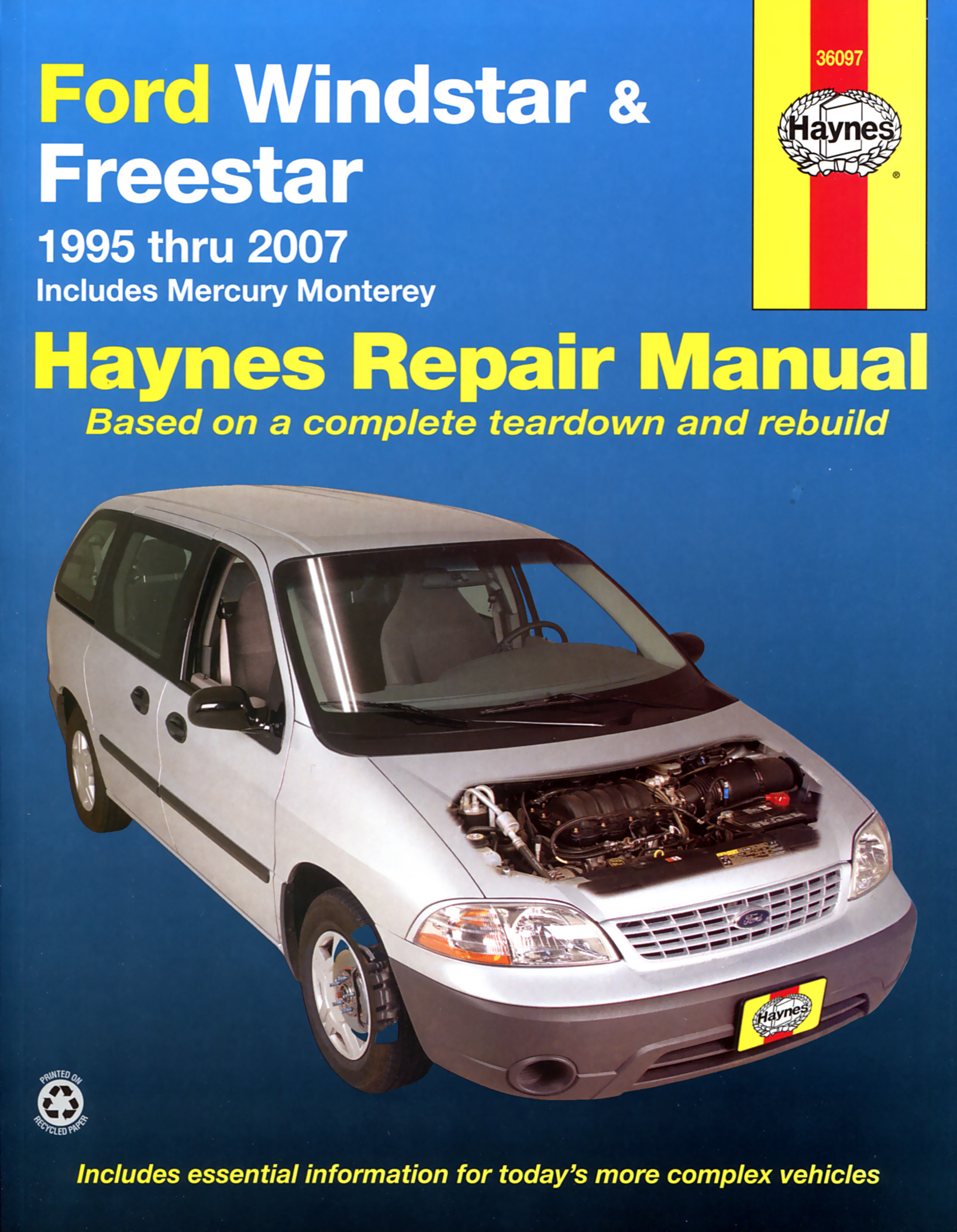 hight resolution of printed manual enlarge ford windstar
