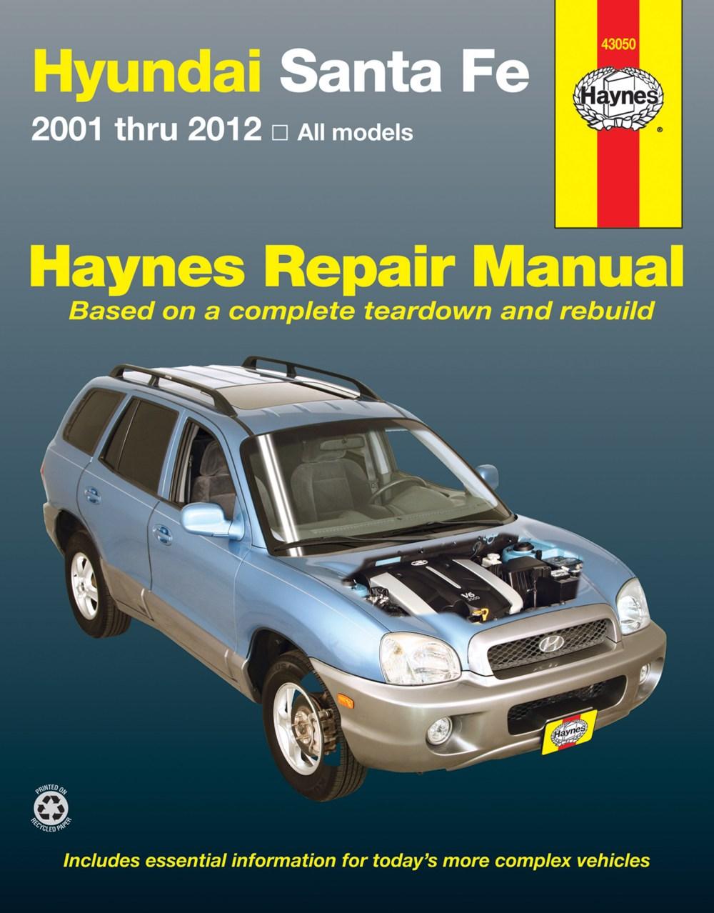 medium resolution of hyundai sante fe 01 12 haynes repair manual enlarge