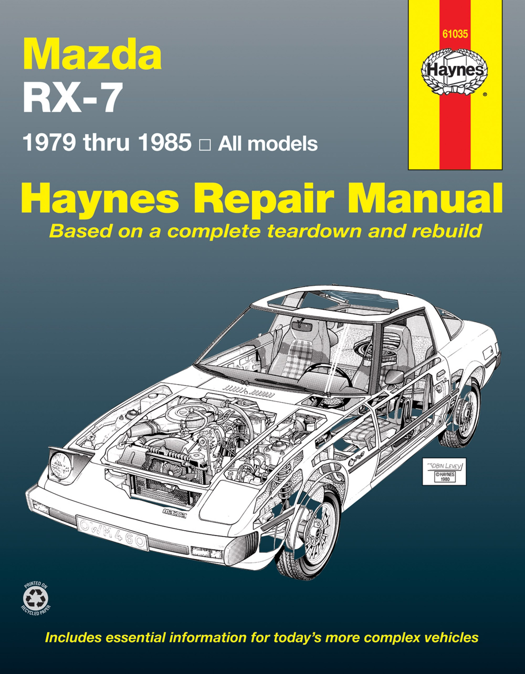 hight resolution of rx 7 haynes manualsprinted manual enlarge mazda rx 7 for