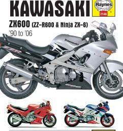 printed manual enlarge kawasaki zx600  [ 2500 x 3200 Pixel ]