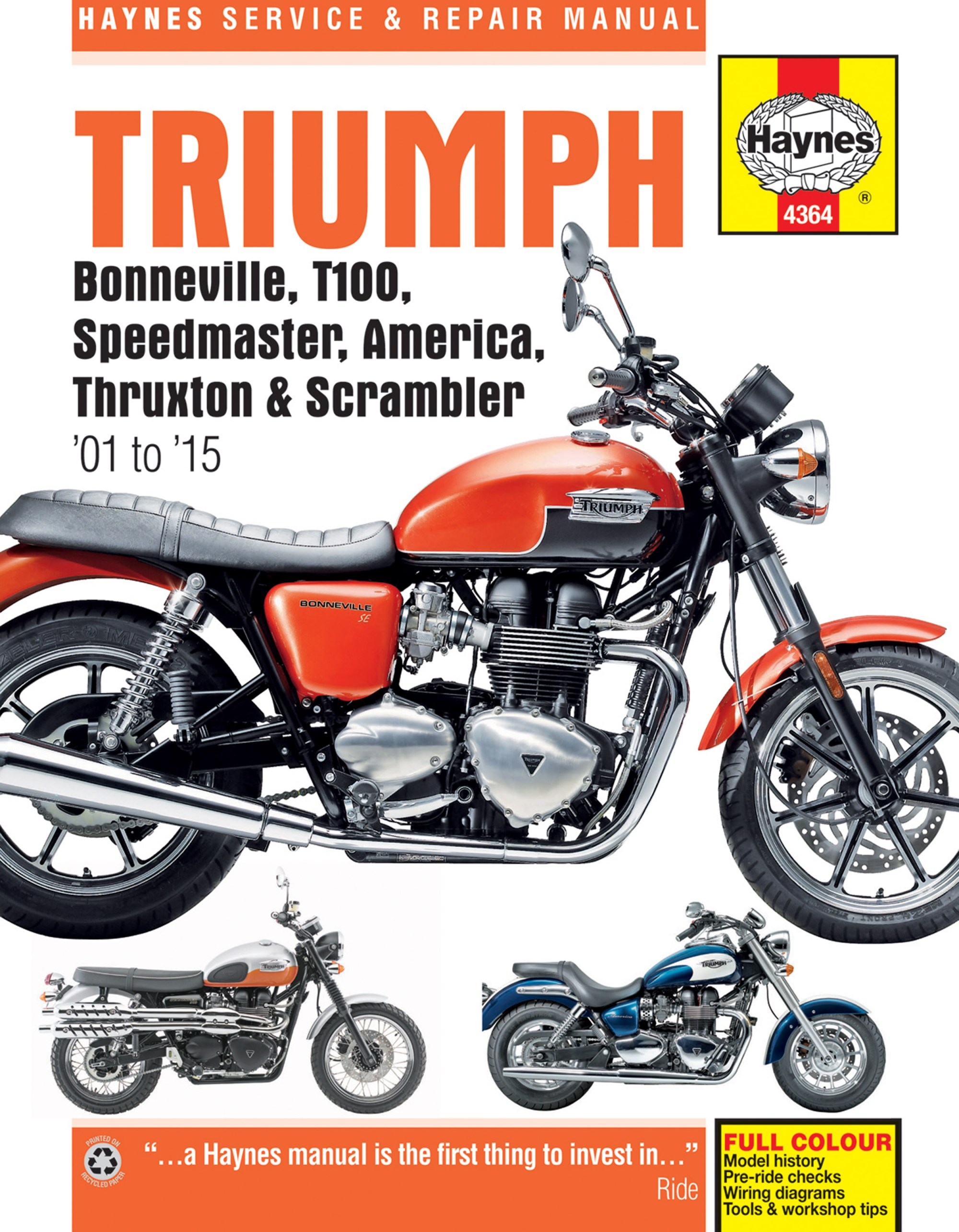 hight resolution of printed manual enlarge triumph bonneville
