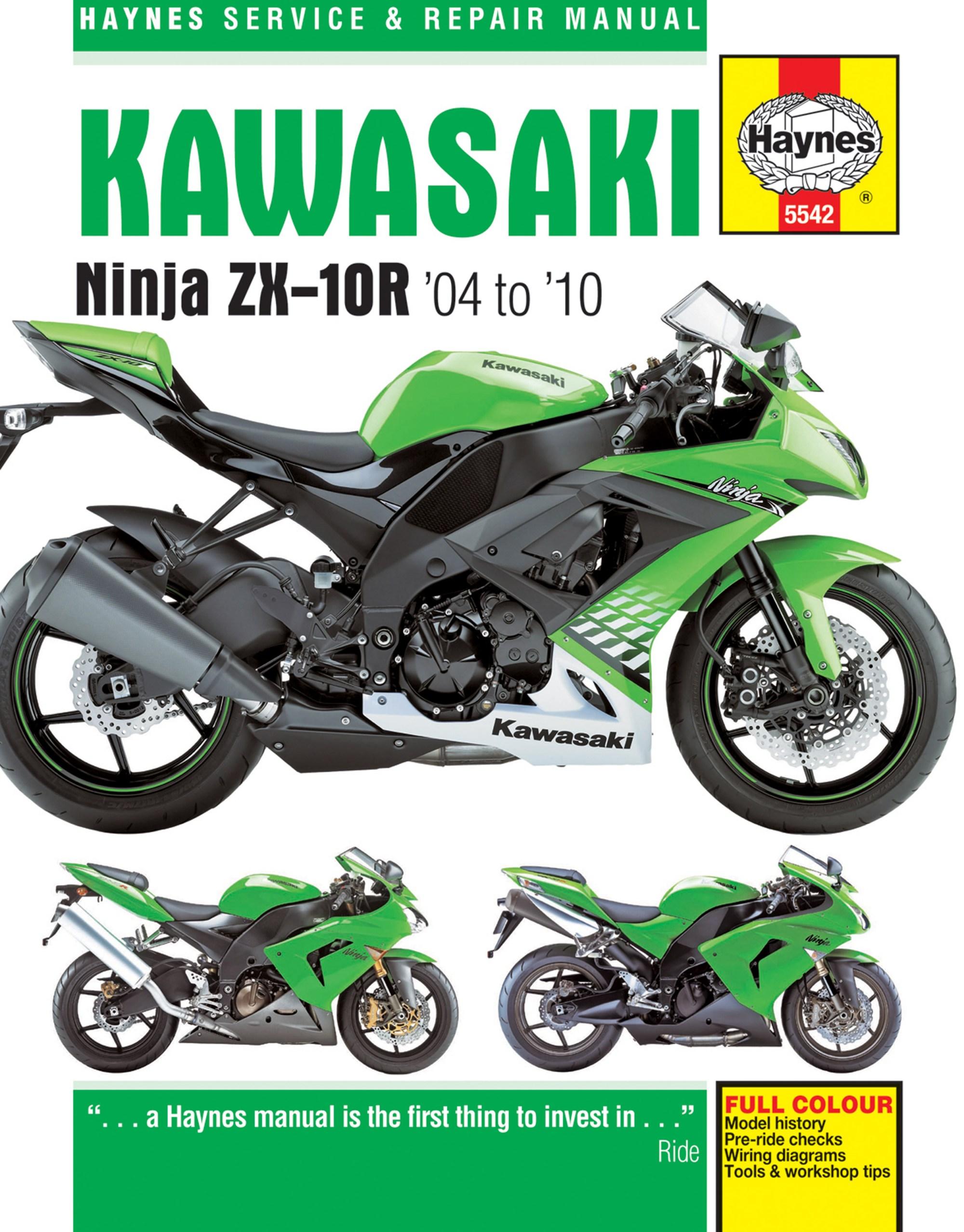 hight resolution of 2004 zx10r wiring diagram wiring librarykawasaki zx10r 2004 2010 motorcycle repair manuals haynes manuals