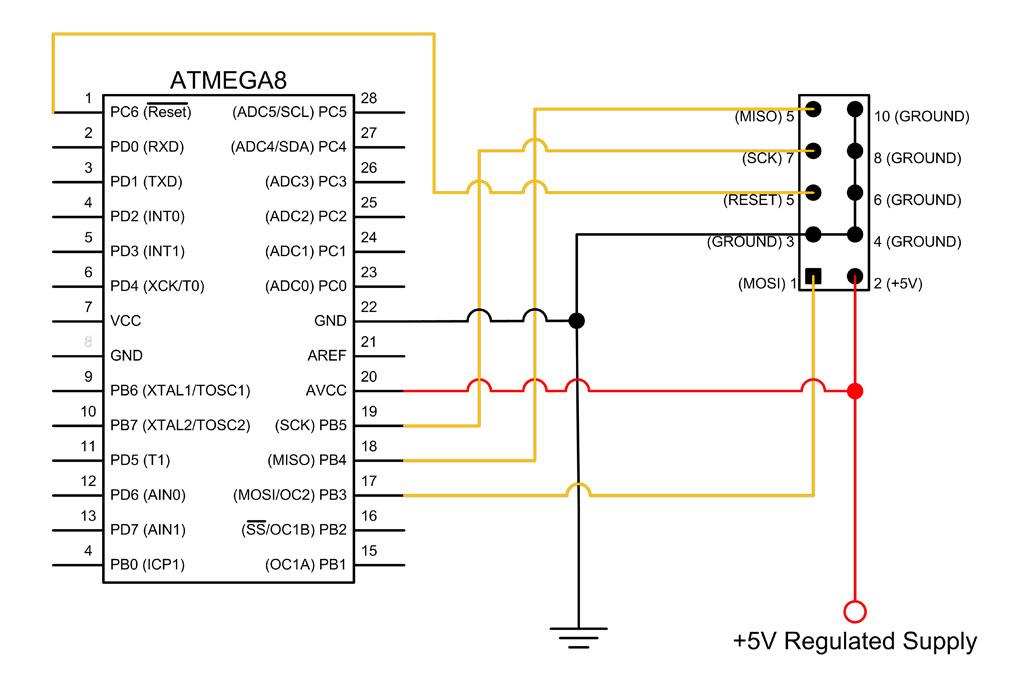 Atmega8 Breadboard Circuit Part 1 Of 3 Power Supply
