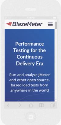 BlazeMeter's Responsive Website Screenshot
