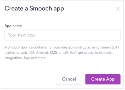Smooch App Creation