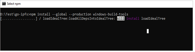 Install Global Production Windows Build Tools