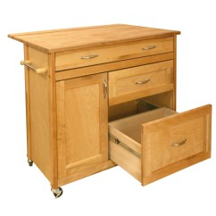 Kitchen Cart With Drawers White Cabinets Home Depot Island Deep Drop Leaf Catskill Mid Sized Drawer