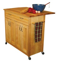 catskill 51538 butcher block kitchen island cart [ 900 x 900 Pixel ]