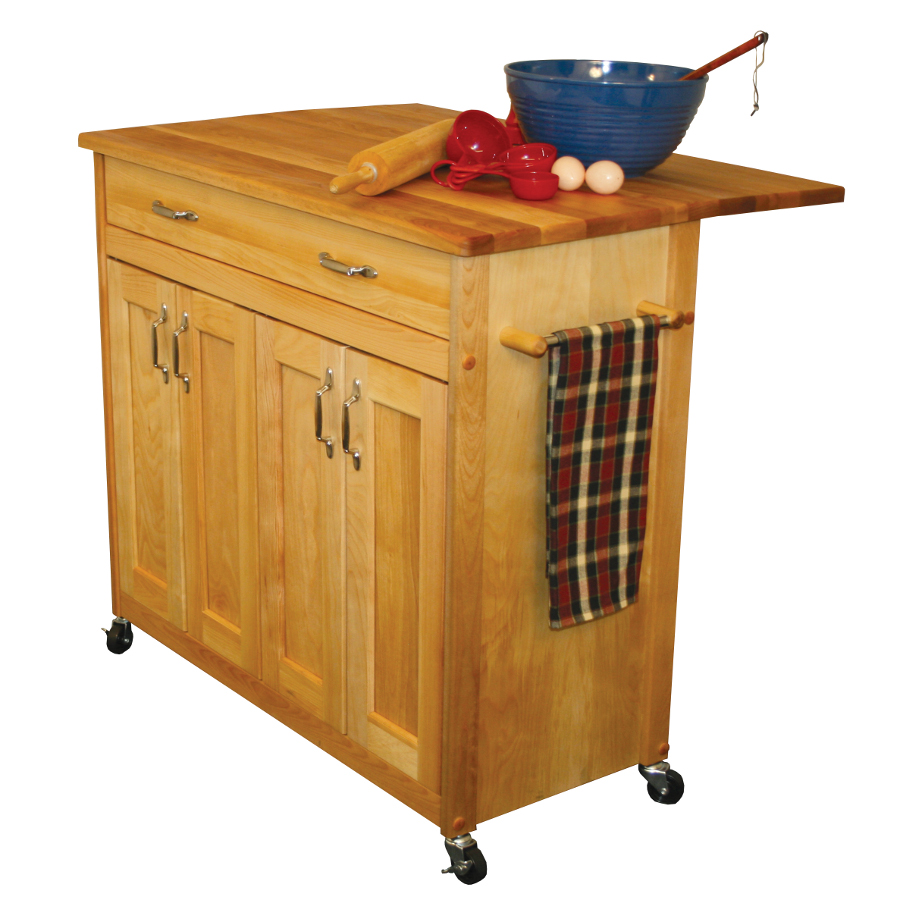 medium resolution of catskill 51538 butcher block kitchen island cart