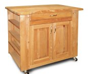 butcher block with storage