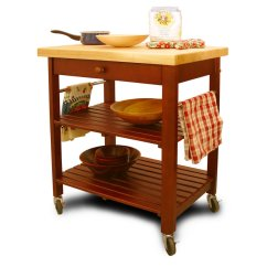 Cherry Kitchen Cart Interior Designs For And Living Room With Open Slatted Shelves Base