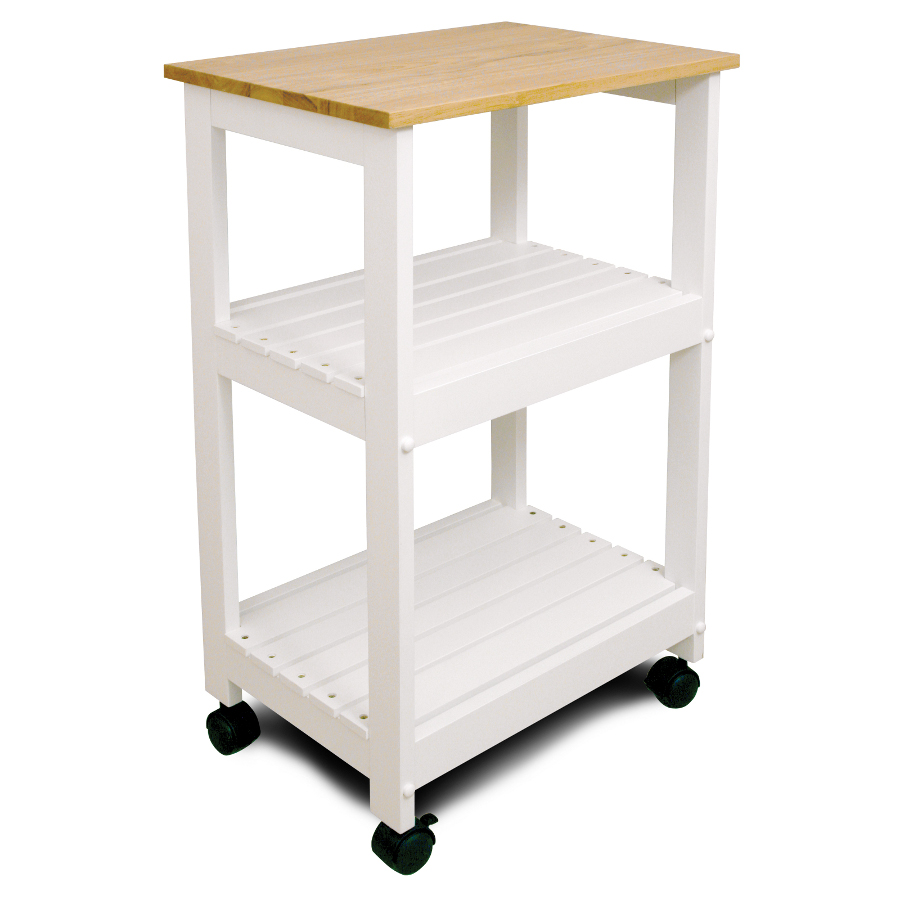 kitchen utility carts victorinox knife white trolley cart with shelves by catskill craftsmen
