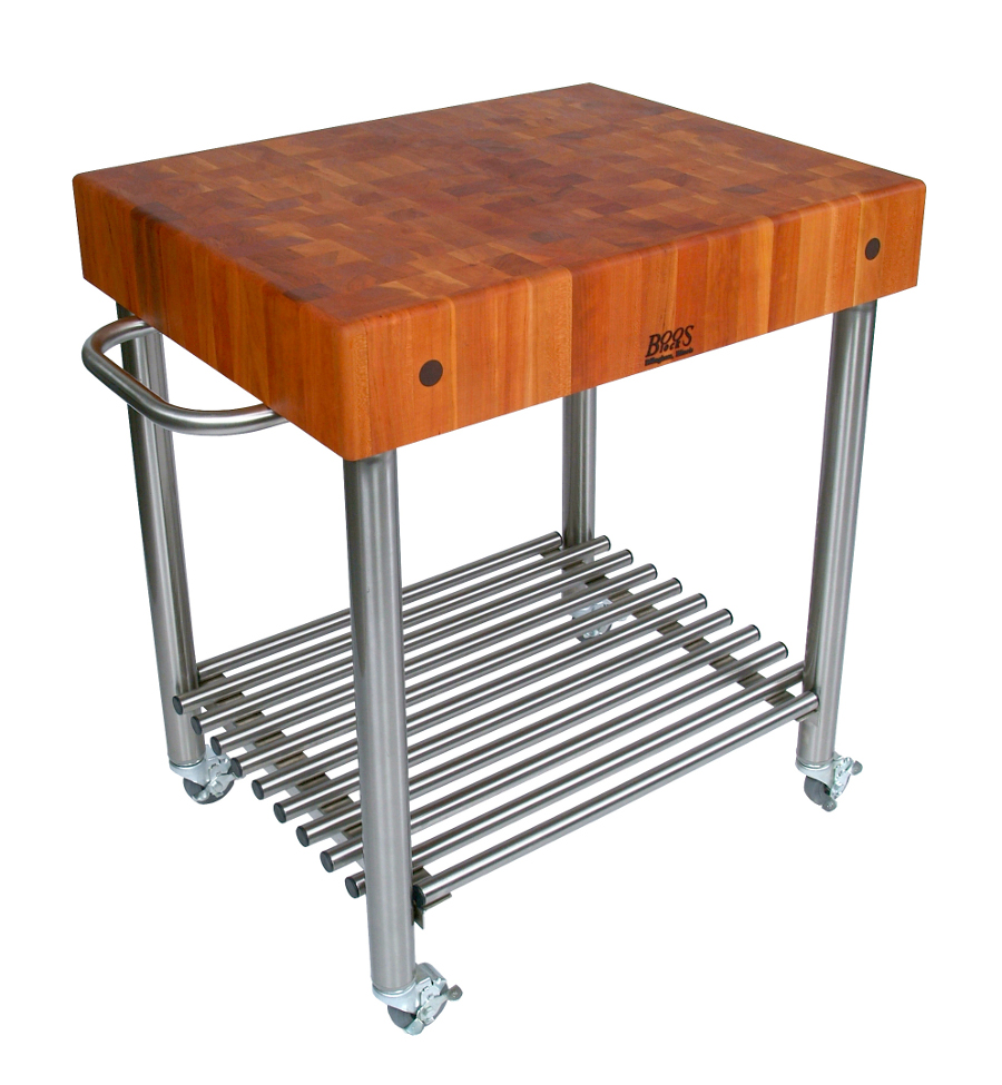 cherry kitchen cart chairs walmart john boos d amico butcher block