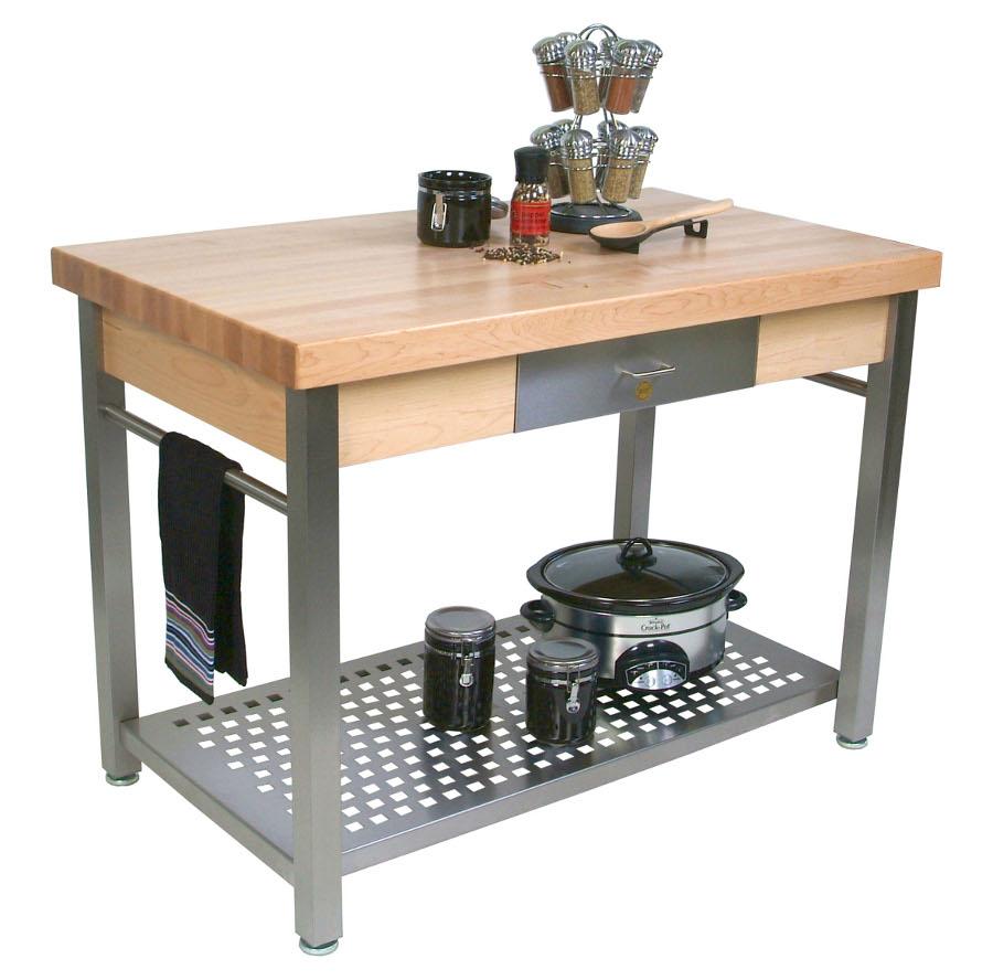kitchen work tables sideboard buffet john boos cucina grande maple steel table butcher block on cucg20 cucg21