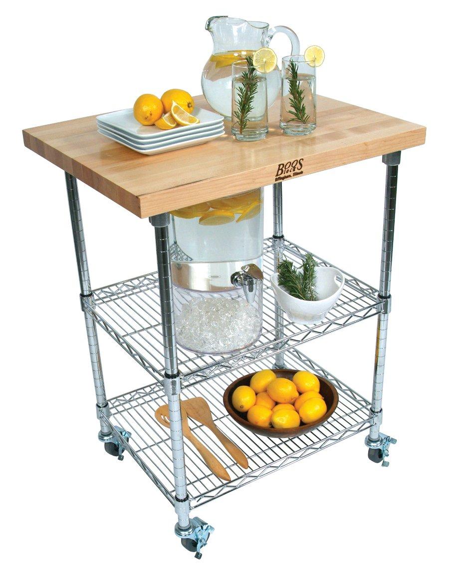wire kitchen cart hand soap john boos butcher block chrome metro maple metropolitan met mwc 1