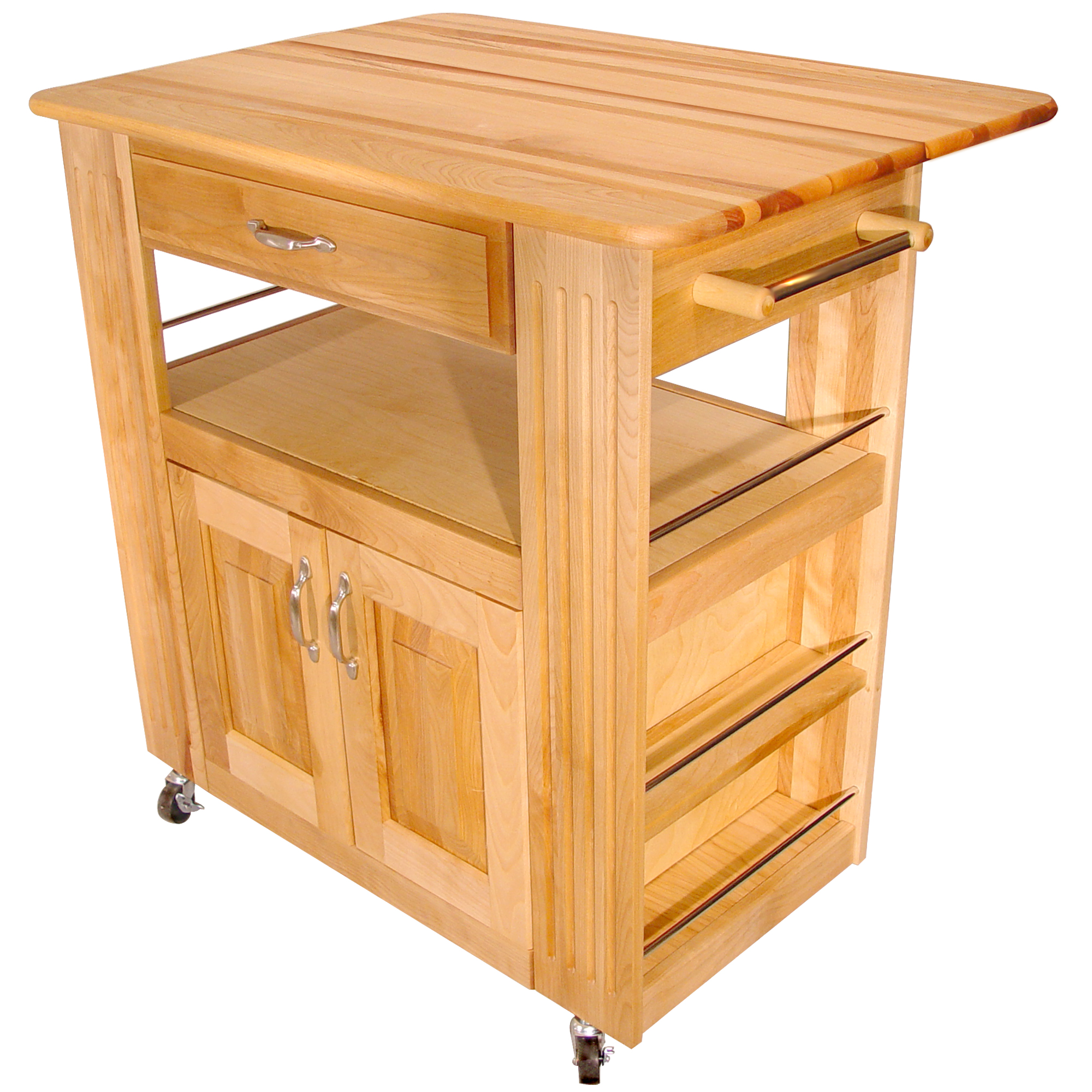 kitchen cart on wheels island with prep sink movable islands rolling mobile catskill s heart of the a drop leaf 34 x 27 5