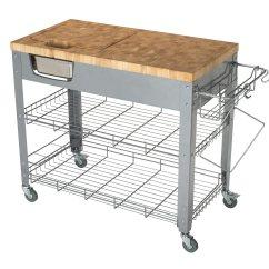Chris And Kitchen Cart Floor Tiles Ideas End Grain Work Station