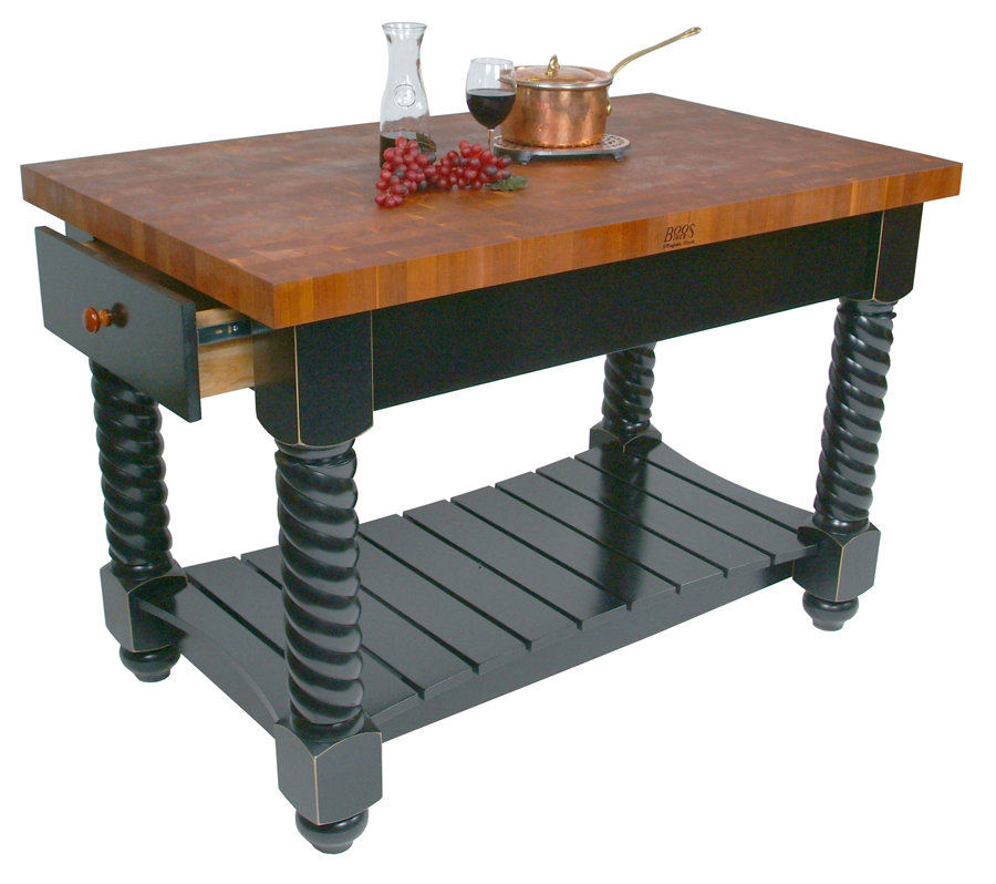Boos Cherry End Grain Butcher Block Kitchen Island