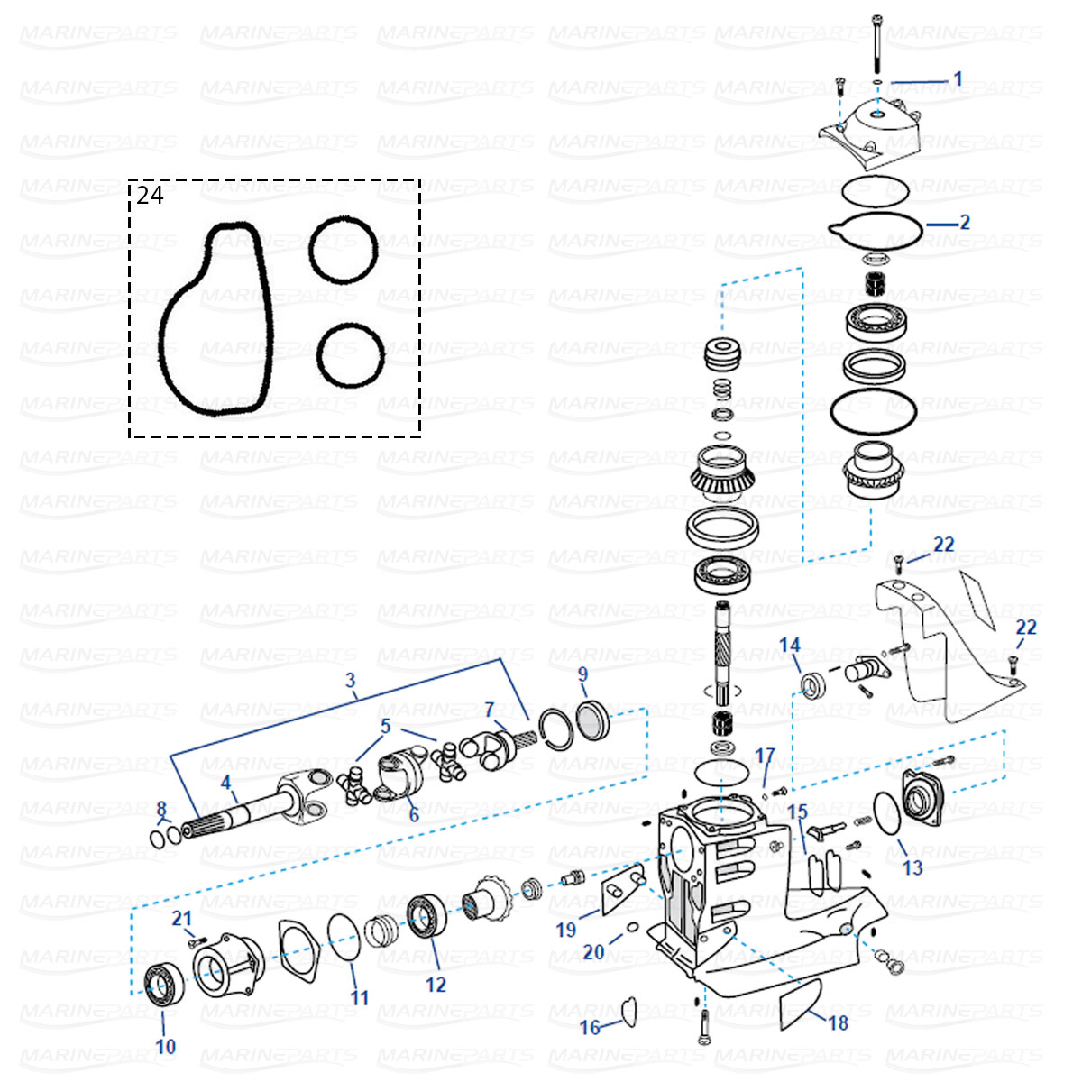 Spare parts » Inboards » OMC » Transom/Sterndrive