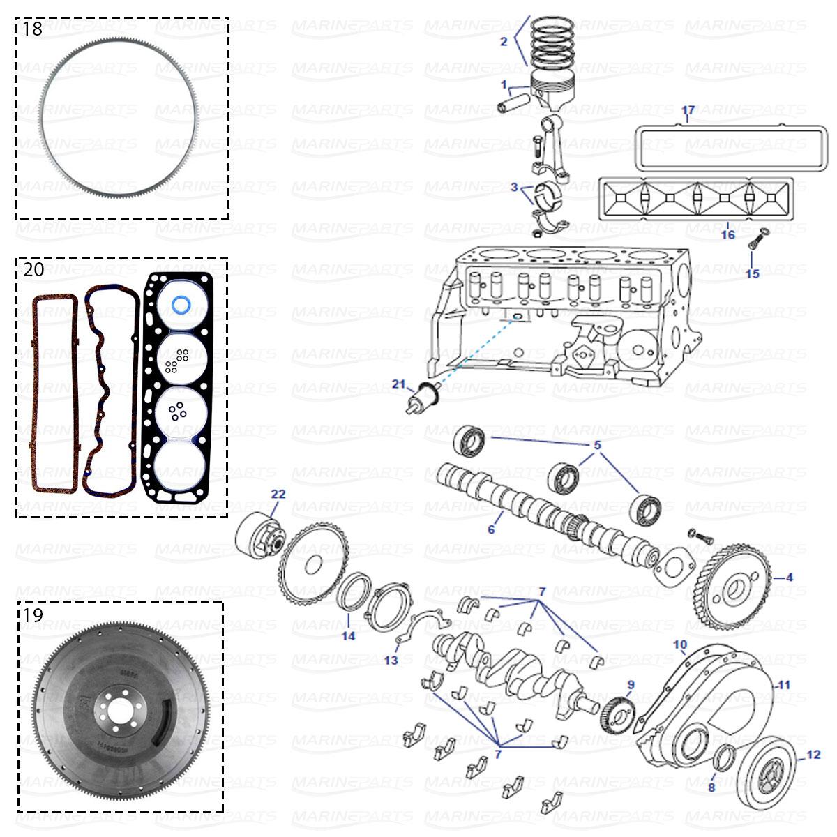 Engine Coupler For Volvo Penta Amp Omc 2 5 3 0 4 3 5 0 5 7 7
