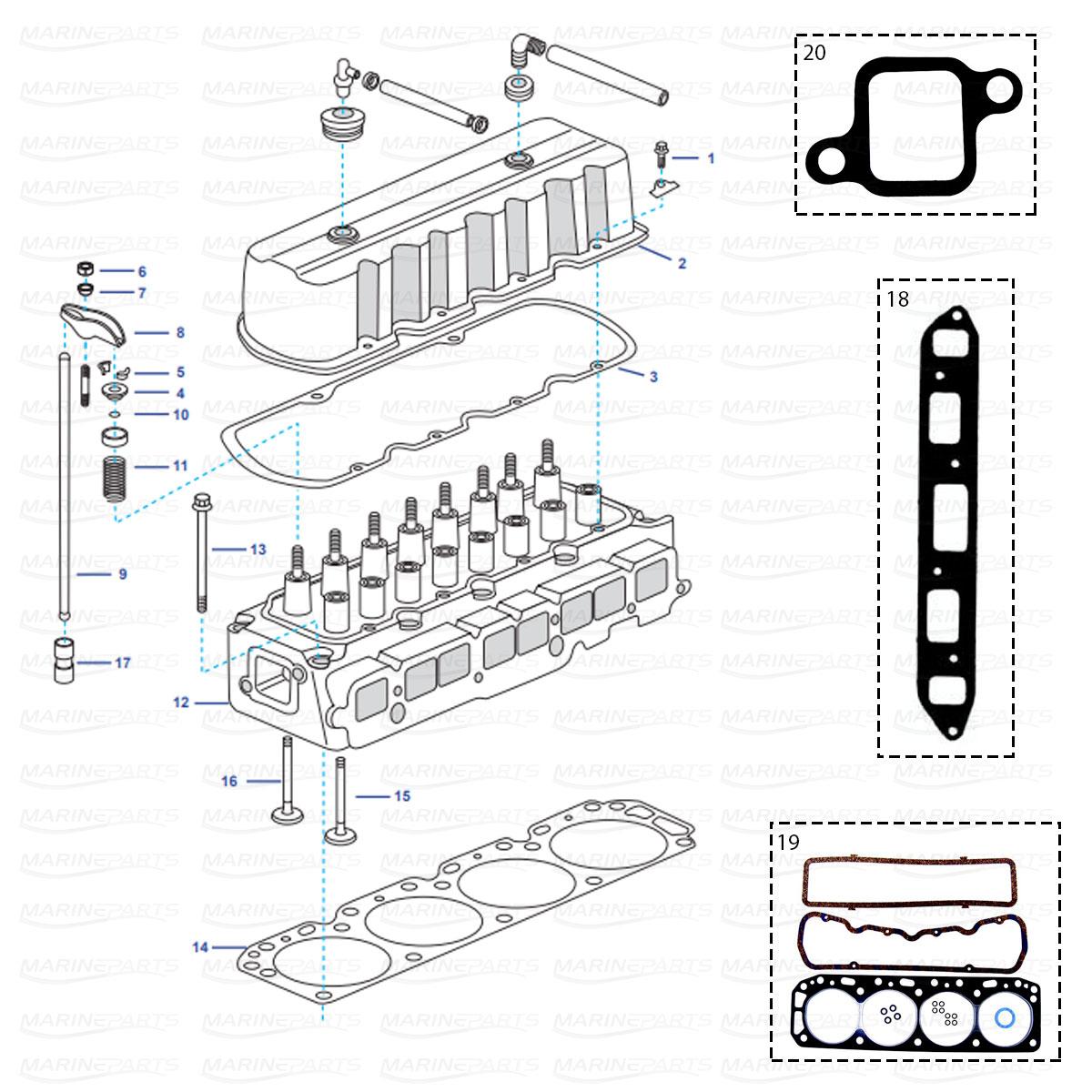 Spare Parts Inboards Volvo Penta Engine Parts