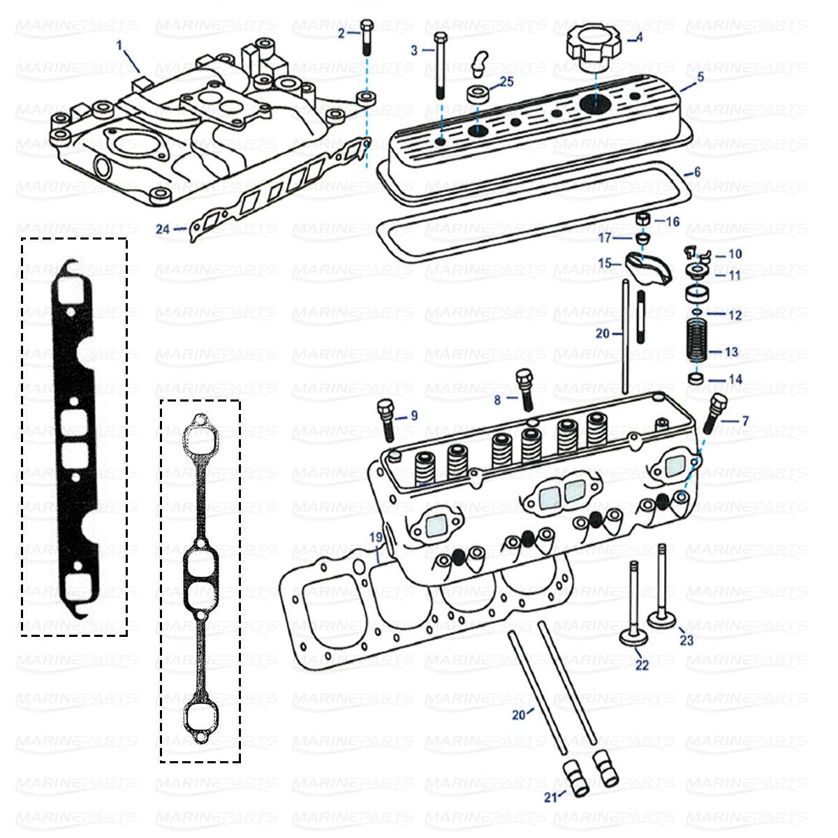 Spare parts » Inboards » OMC » Engine parts, marineparts.eu