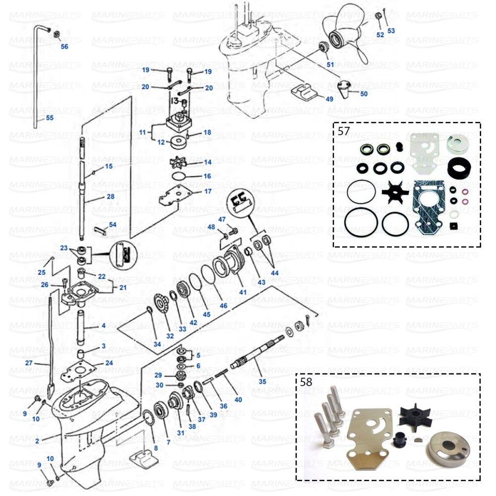 medium resolution of gearcase parts yamaha f9 9 1998 2008 f13 5