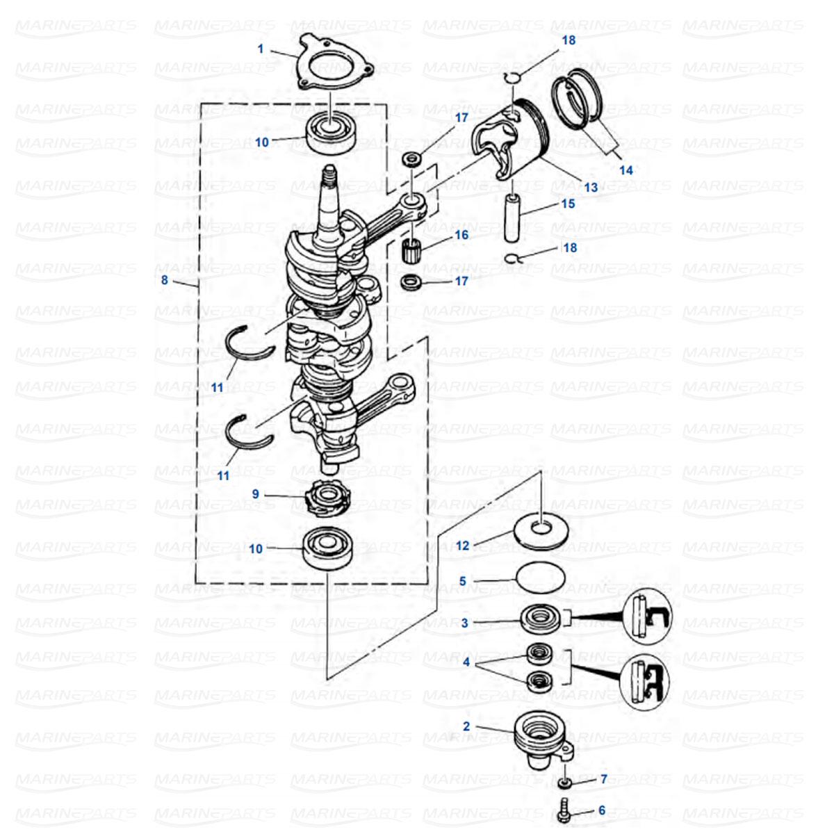 Yamaha moottorin varaosat perämoottorille, Marineparts Finland