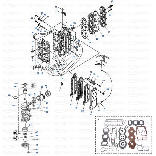 small resolution of engine parts yamaha 50g 60f 60t 70b 70t