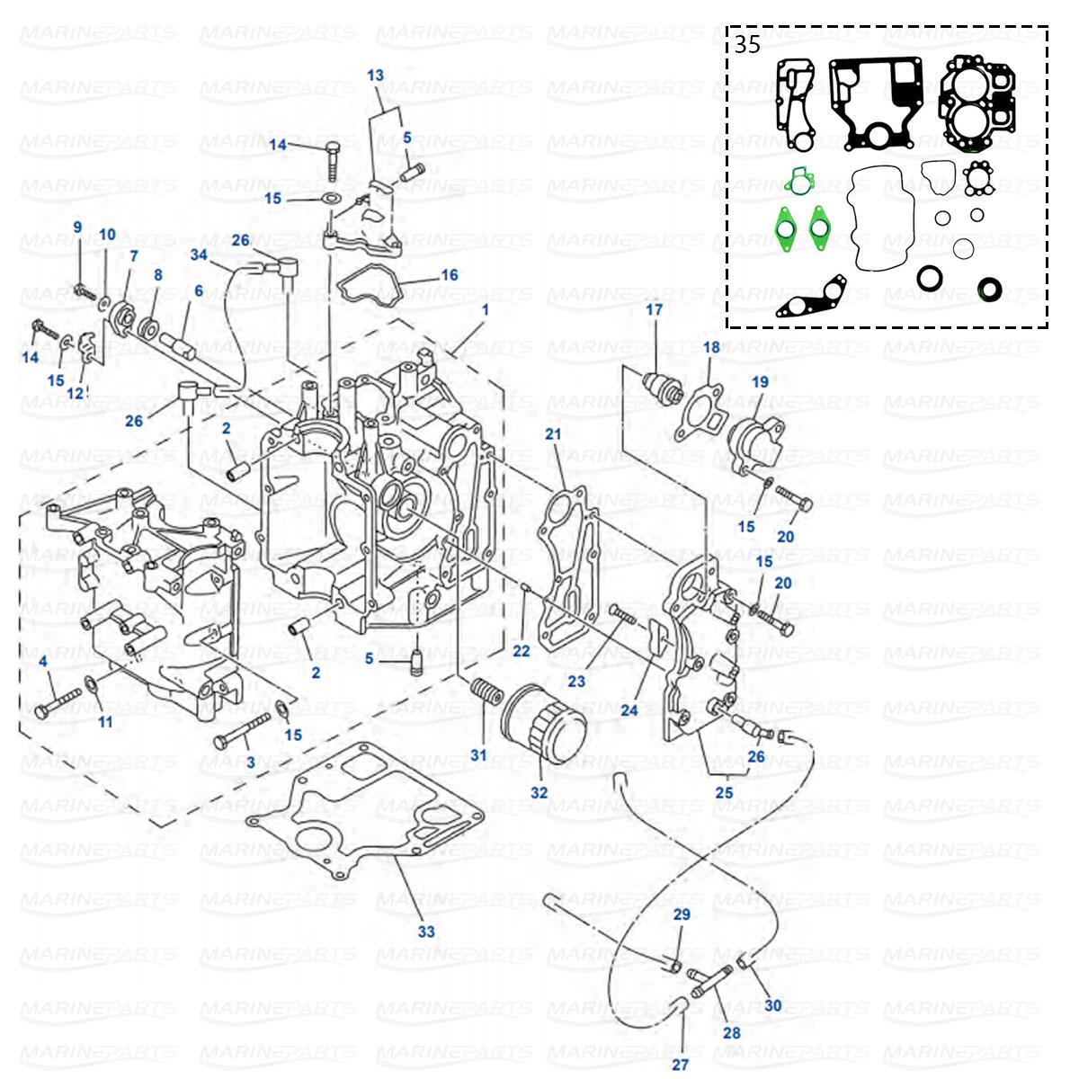 Yamaha motordelar till båtmotor, marineparts.ax