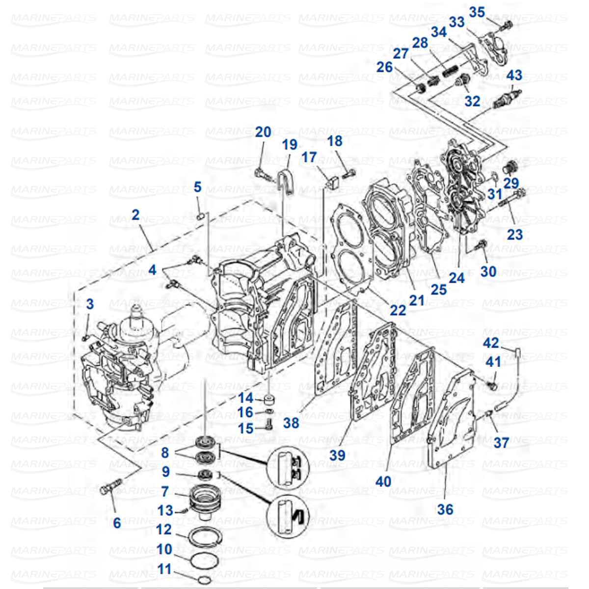 Yamaha Engine Parts For Outboard Motor Swedenmarineparts