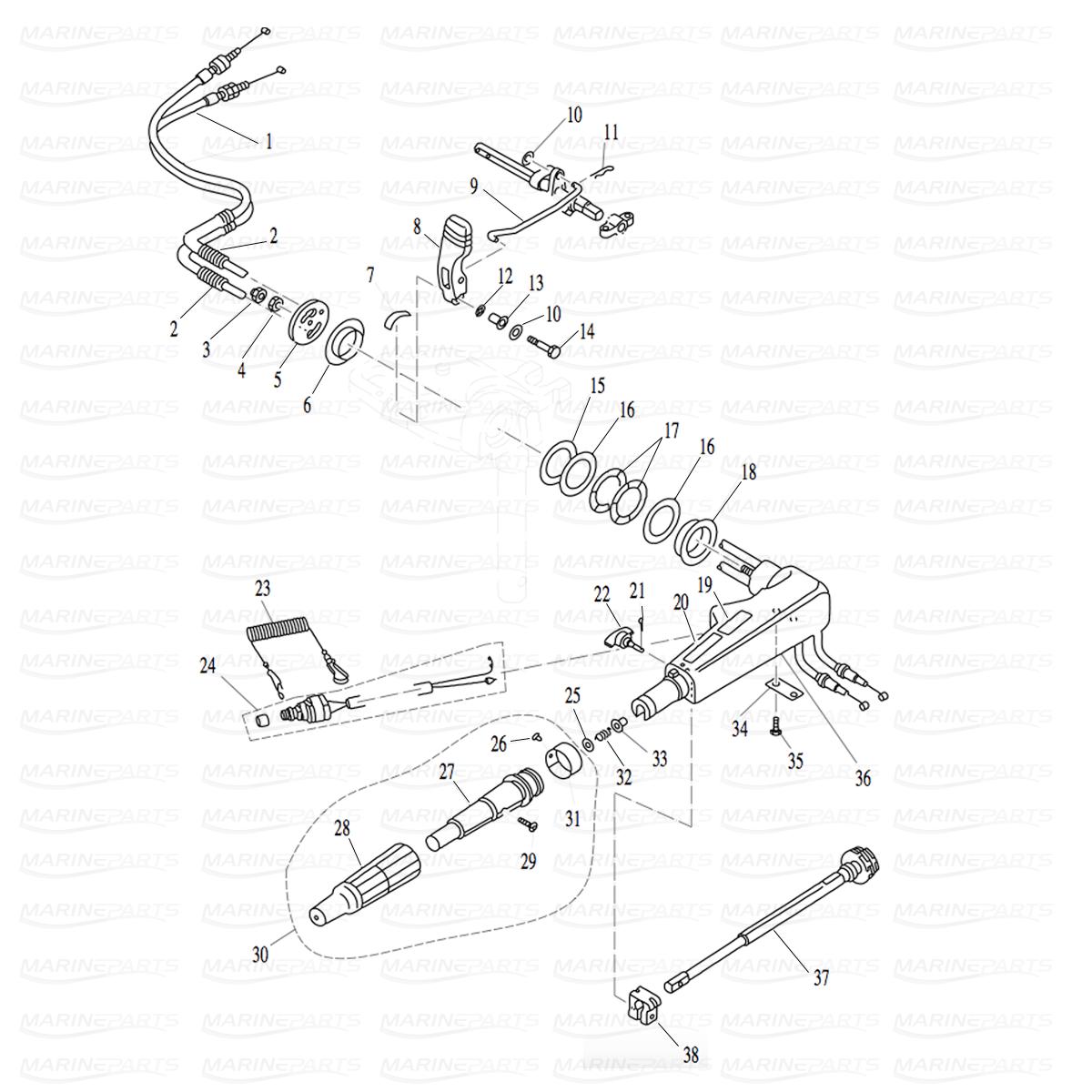 BOLT M5X12, marineparts.eu