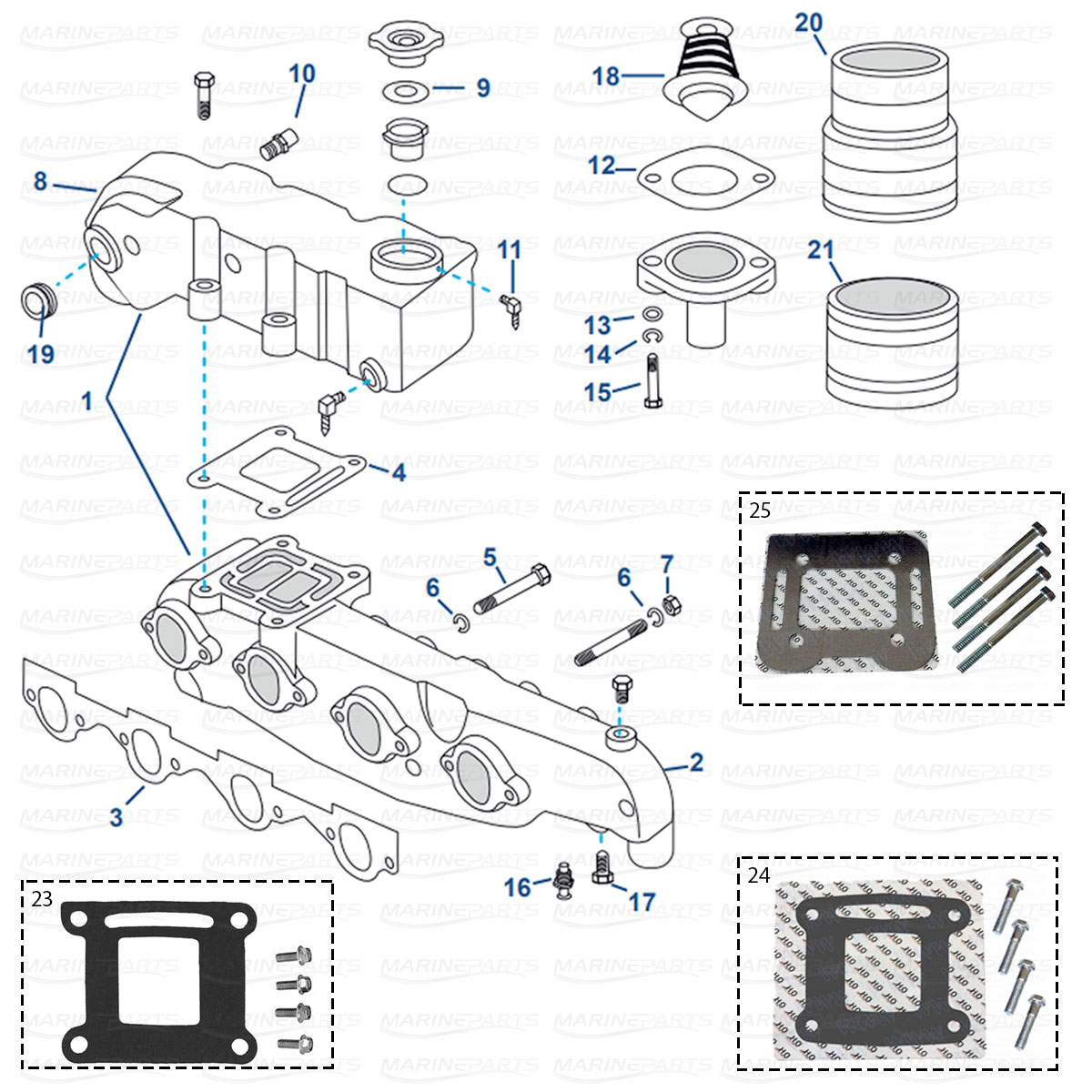Spare parts » Inboards » MerCruiser » Engine parts