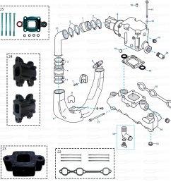 exhaust parts for mercruiser gm 4 3 ltr v6 mpi [ 1200 x 1200 Pixel ]