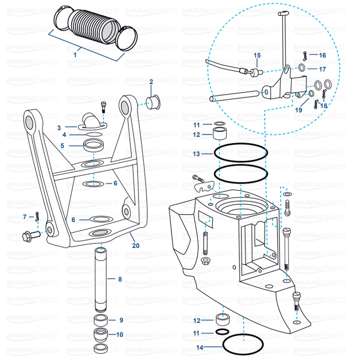 Spare parts » Inboards » Volvo Penta » Transom/Sterndrive