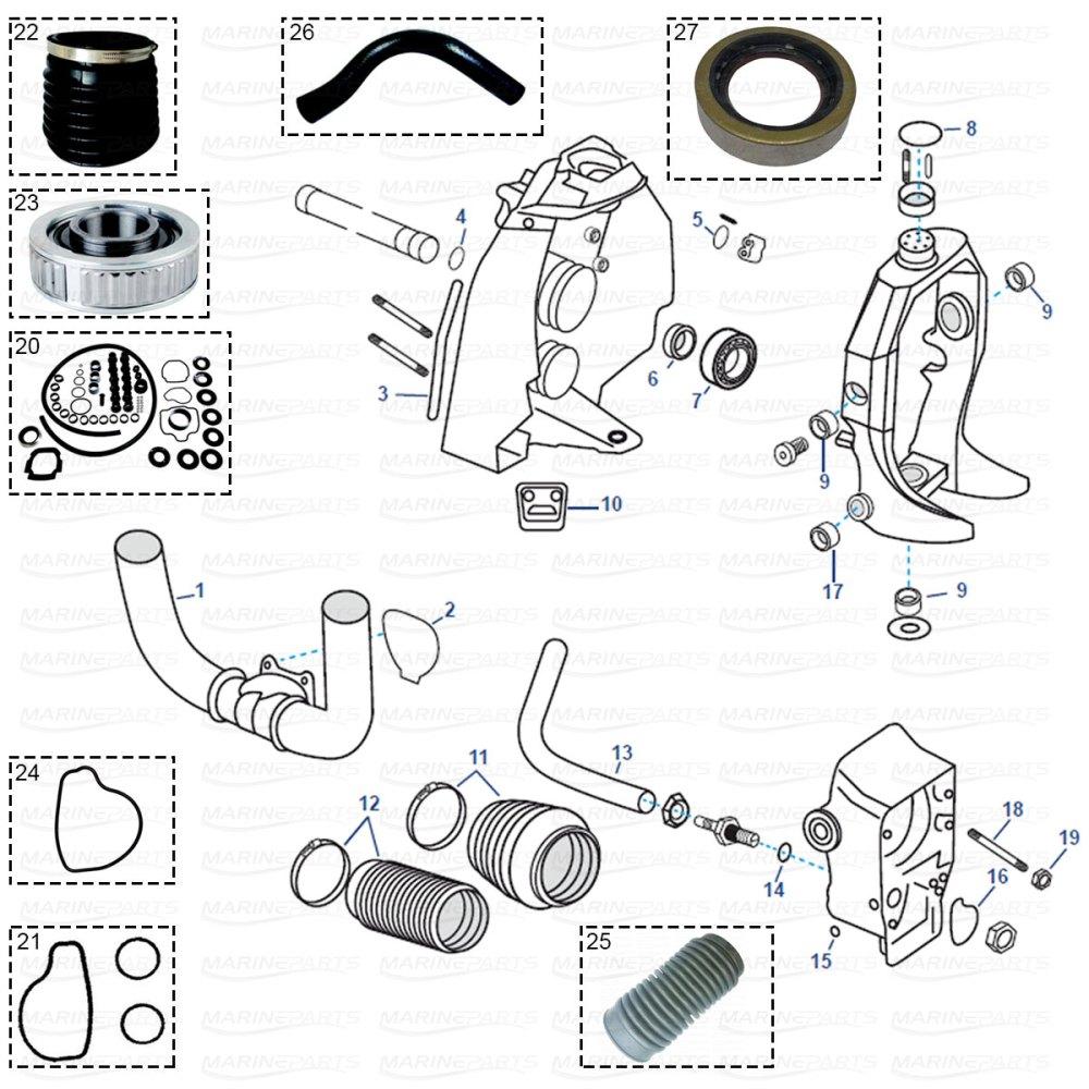 medium resolution of transom parts for volvo penta sx 1994 2006