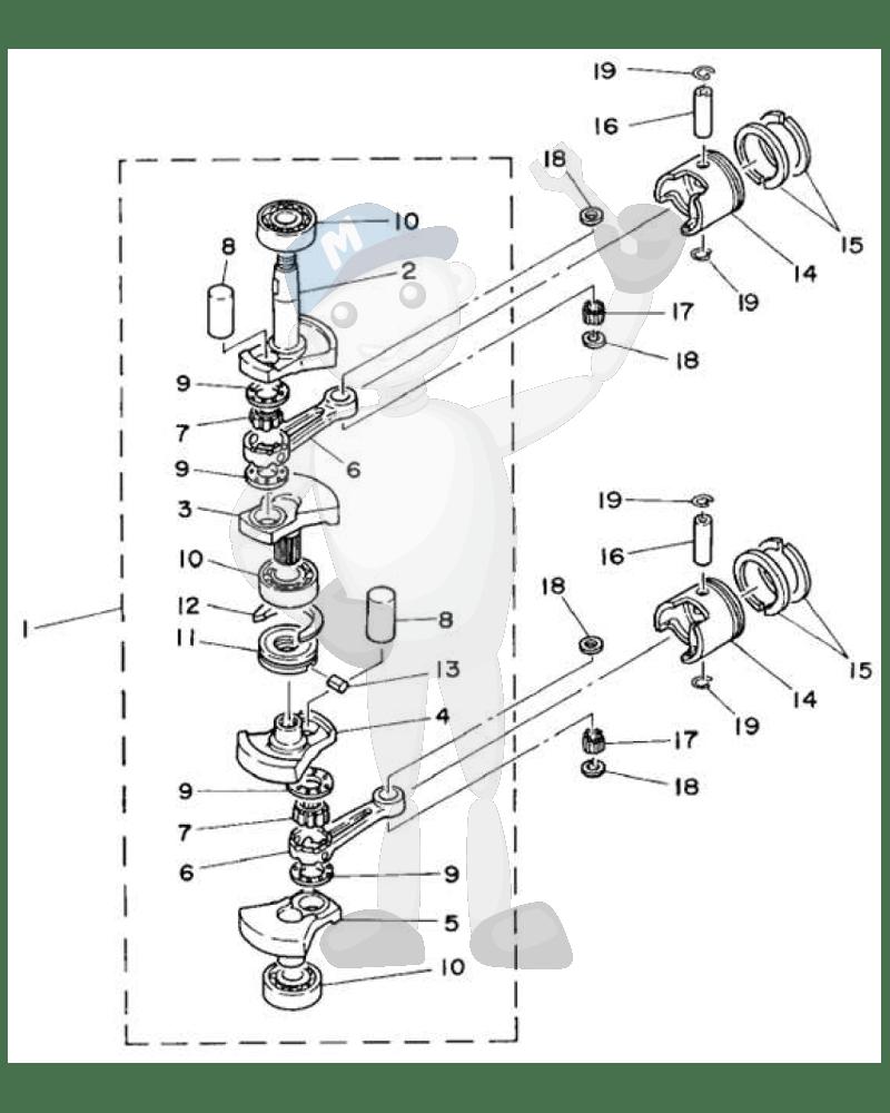 Yamaha motordeler til båtmotor, Marinepartsnorge.no